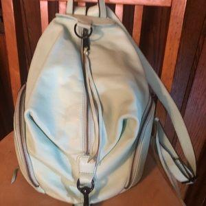 Rebecca Minkoff light teal backpack